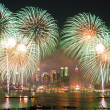 fuochi d'artificio di New york city — Foto Stock