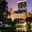 New York City Central Park night view — Foto Stock