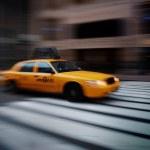 NEW YORK CITY YELLOW CAB — Stock Photo