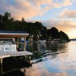 Lake sunrise — Stock Photo