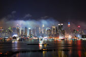 New York City Manhattan after fireworks show — Stock Photo