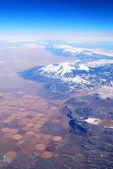 Mountain with snow aerial view. — Stock Photo