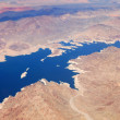 Lake with Mountains Aerial View — Stock Photo