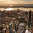 Hudson River sunset — Stockfoto