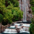 Waterfall and Horticulture, Las Vegas — Stock Photo