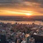 Manhattan Hudson River sunset — Stock Photo #4025703