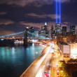 New York City at night — Stockfoto