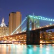 Brooklyn bridge in new york city-manhattan — Stockfoto