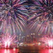 Foto Stock: New York City fireworks show