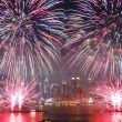 Stock Photo: New York City fireworks show