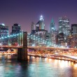 New York City Manhattan and Brooklyn Bridge — Stock Photo #4026012