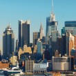 URBAN CITY SKYLINE, NEW YORK CITY — Stock Photo