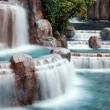 Stock Photo: Waterfall Panorama, Las Vegas.