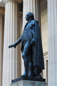 George Washington Statue, Wall Street, New York City — Stock Photo