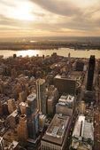 Hudson River sunset — Stock Photo