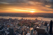 Manhattan Hudson River sunset — Stock Photo