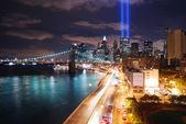 New York City at night — Stock Photo