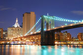 Puente de brooklyn en nueva york manhattan — Foto de Stock