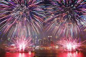 New York City fireworks show — 图库照片