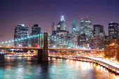 New York City Manhattan and Brooklyn Bridge — Stock Photo