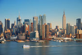 NEW YORK CITY WITH EMPIRE STATE BUILDING — Foto Stock