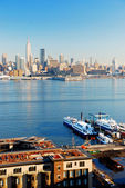 NEW YORK CITY VIEWED FROM NEW JERSEY — Stock Photo