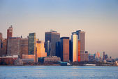 DOWNTOWN MANHATTAN SUNSET, NEW YORK CITY — Stock Photo