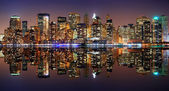 Manhattan panorama, new york city — Stok fotoğraf