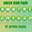 Stock Vector: Green icon pack