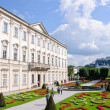 Mirabell Garden and Hohensalzburg Castle - Salzburg, Austria — Stock Photo
