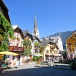Market Square - Hallstatt, Salzkammergut, Austria — Stock Photo