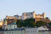Hohensalzburg Castle in the evening - Salzburg, Austria — Stock Photo
