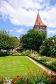 Garden of the Kaiserburg - Nürnberg/Nuremberg, Germany — Stockfoto