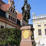 Постер, плакат: Statue of Johann Wolfgang Goethe Leipzig Germany
