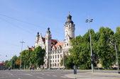 Neues rathaus - leipzig, almanya — Stok fotoğraf