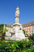 Statue of Walther von der Vogelweide - Bolzano/Bozen, South Tyrol, Italy — Stock Photo