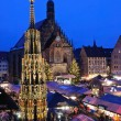 Christkindlesmarkt in Nuremberg - Stock Photo