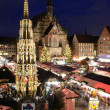 Christkindlesmarkt in Nuremberg — Stock Photo