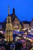 Christkindlesmarkt in Nuremberg — Stock Photo
