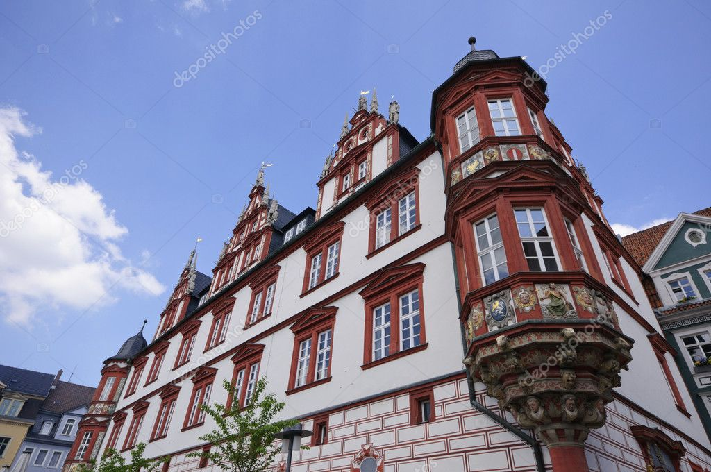 Stadthaus, Historical building in Coburg, Germany — Stock Photo #4659894