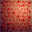 Red ceramic hearts background — Foto de Stock