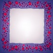 Jewels and paper sheet frame — Stock Photo