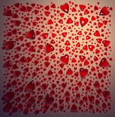 Red glass hearts background — Stock Photo