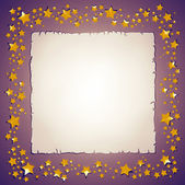 Golden stars and paper sheet frame — Stock Photo