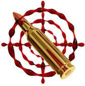 Sniper emblem. — Foto Stock