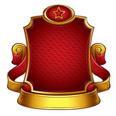 USSR retro style emblem. — Stock Vector
