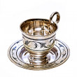 Silver Coffee cup — Stock Photo