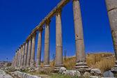 Roman Pillars Street - Jerash — Stock Photo