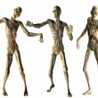 Dance of the undead zombies — Stock Photo