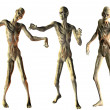 Stock Photo: Dance of undead zombies